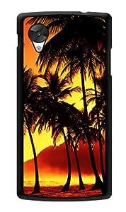 "Humor Gang Coconut Trees Sunset Dusk Printed Designer Mobile Back Cover For ""Lg Google Nexus 5"" (3D, Glossy, Premium Quality Snap On Case)"