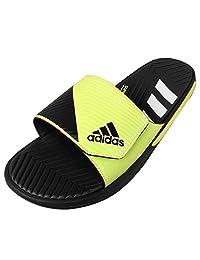 Adidas Men's Sandals: Adidas Predator Slide-Dark Grey/light Flash Yellow
