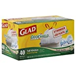 Glad Odor Shield Tall Kitchen Drawstring Bags, Fresh Vanilla Scent, 13 Gallon 40 ct.
