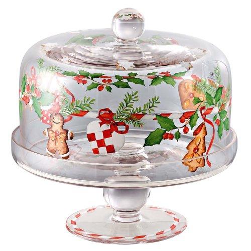 Hutschenreuther 02460-725492) 02460-725492-45156Plateau à gâteau sur la base hauteur 24cm x diamètre 21cm en verre
