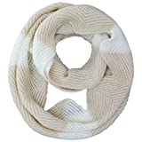 Luxury Divas Zigzag Chevron Knit Circle Scarf