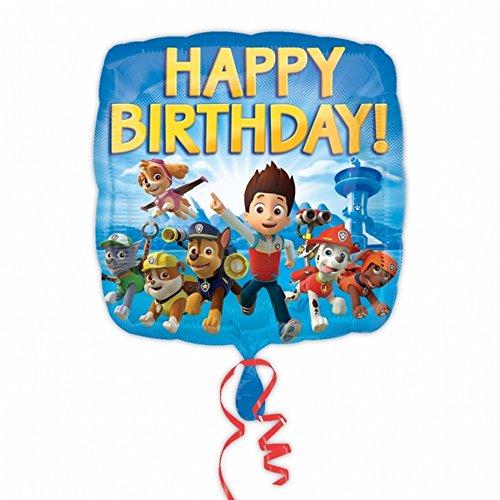 Amscan-Paw-Patrol-Folien-Ballon-Happy-Birthday-quadratisch-Einheitsgre-Blau