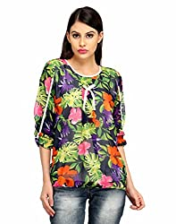 Snoby Floral Printed 3/4th Polyester Top (SBY1019)