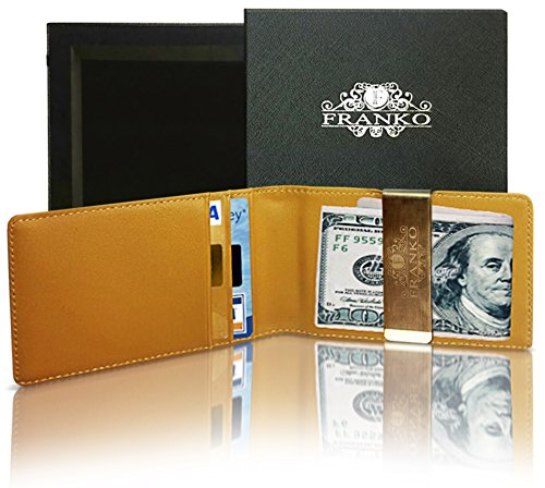 Franko Money Clip Wallet - 100% Money Back Guarantee! A Genuine Leather Wallet With A Removable Metal Money Clip - ID Slot - 3 Credit Card Compartments - Cash Holder - Credit Card Holder - A Top Quality Wallet For Man