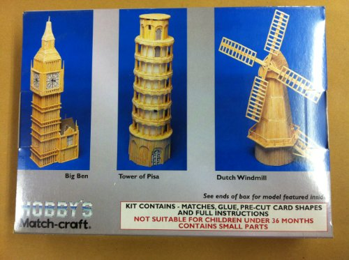 HOBBY'S MATCH-CRAFT HISTORIC BUILDINGS TOWER OF PISA