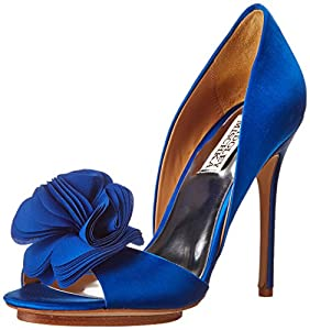 Badgley Mischka Women's Blossom D'Orsay Pump,Royal Blue,7 M US