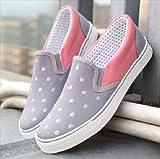(フルールドリス)Fluer de lis グレー ドット バイカラー スリッポン スニーカー 靴 シューズ 婦人靴 アパレル レディース ファッション 服 273-k1-4619