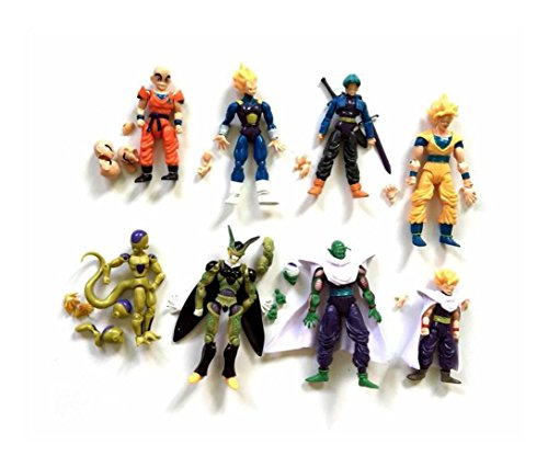 Lot 8pcs Dragonball Z Dragon ball DBZ Joint Movable Action Figure Toy Set (Dbz Figure Lot compare prices)
