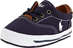 Ralph Lauren Layette Vaughn Crib Shoe (Infant/Toddler) Soft Sole,Navy Canvas 2,1 M US Infant