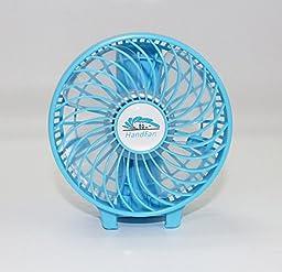 Unifire®rechargeable Fans Handheld Mini Fan Battery Operated Electric Personal Fans with Foldable Fans Hand Bar Desktop Fan Hand Fans (blue)