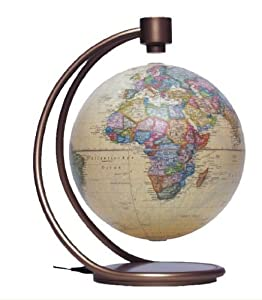 Round World Imports SN892094 8 in. Levitating Globe in Antique