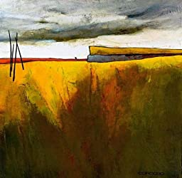 27W x 27H Fascinating Landscape II by Emiliana Cordaro - Stretched Canvas w/ BRUSHSTROKES
