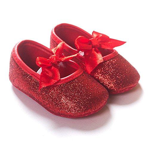 Infant Newborn Baby Girls Princess Bow Slip-on Toddler Crib Shoes Soft Sole