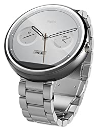 Motorola Moto 360 Smart Watch - Natural Metal (Certified Refurbished)