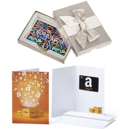 $100 Nordstrom Gift Card in a Gift Box and $20 Amazon.com Gift Card