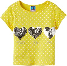 Scullers Kids Girls' T-Shirt (MU0153_Yellow_7 - 8 years)