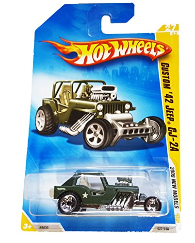 Hot Wheels 2009 New Models Custom 42 Jeep CJ-2A - 1