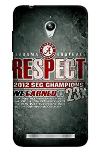 Blue Throat Respect For Alabaam Champion Printed Designer Back Cover For Asus Zenfone Go