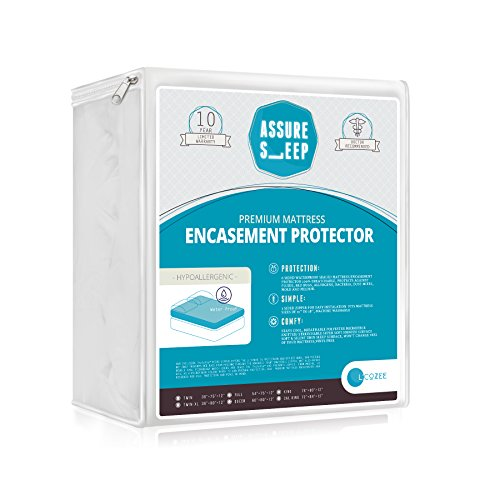 Assure Sleep - Waterproof / Bed Bug Proof Mattress Encasement, 39 Inch X 75 Inch Twin Size (Twin Size Matress 39 compare prices)