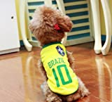 愛犬とワールドッカプを楽しもう★人気!ブラジルユニフォーム★ (M)