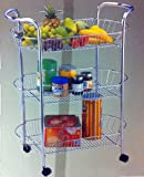 3 Tier Kitchen Trolly. Under Table Mobile Storage Trolley. Fruit & Veg or Snacks
