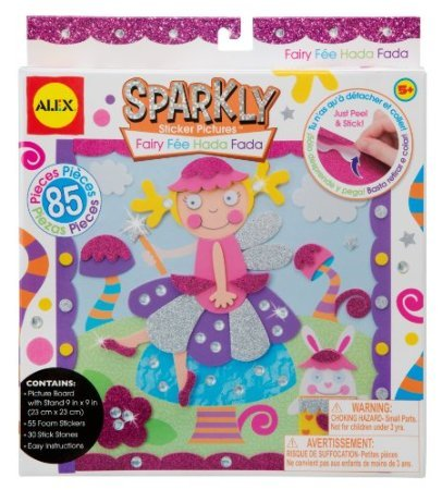 ALEX Toys - Craft, Fairy Sparkly Sticker Pictures Kit, A458-FN - 1