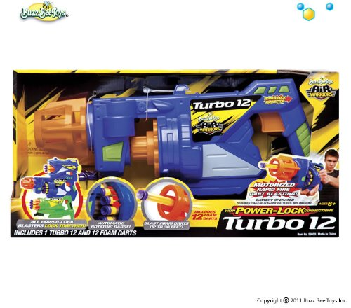 Amazon.com : Air Warriors Turbo 12 (Motorized Rapid Fire Dart Blaster) : Foam Battle Toys : Toys & Games