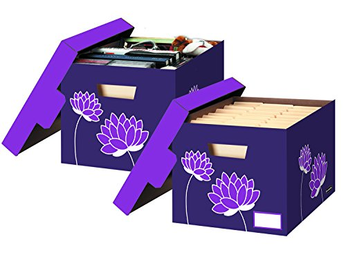 Bankers Box Letter / Legal File / Storage Boxes Purple Blossoms