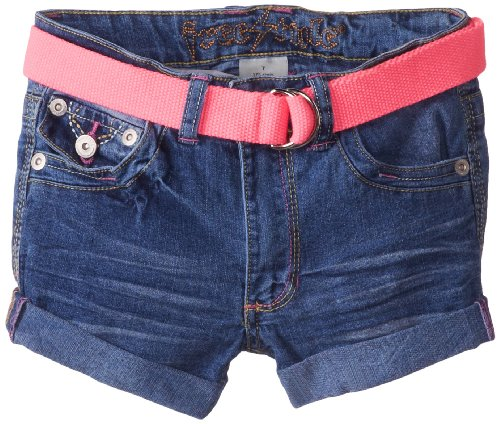Freestyle Revolution Big Girls' Belted Emille Short With Color-Pop Stitching, Fluorescent Pink, 7 front-451394