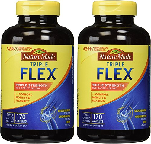 Nature Made TripleFlex - Glucosamine Chondroitin and MSM - 2 Bottles, 170 Caplets Each (Natural Made Flex compare prices)