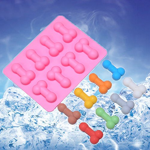 Fun Penis Sharped Silicone Ice Cube Tray Mold Chocolate Candy Jello Mold Party (Han Solo Fridge Cover compare prices)