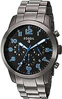 Fossil Q Pilot Gunmetal Stainless Steel Hybrid Smartwatch