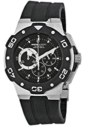 Momo Design Tempest Chronograph Black Dial Black Rubber Mens Watch MD1004SS-21