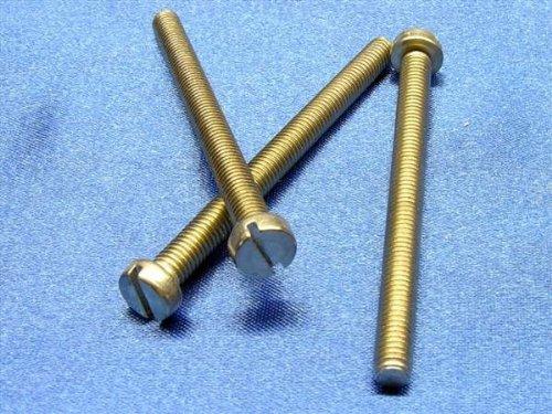 100 Stück M1x3 mm Zylinderschraube Zylinderkopf Schlitz DIN84 V2A Edelstahl