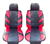 1+1 UNIVERSAL RED-BLACK FRONT SEAT COVERS CUSHION PADDED FOR VAUXHALL ZAFIRA CORSA ASTRA VECTRA FORD FIESTA FOCUS MONDEO MPV S-MAX RENAULT CLIO MEGANE MPV LAGUNA SCENIC VW LUPO TIGUAN CADDY PASSAT BORA POLO SKODA FABIA OCTAVIA MPV ROOMSTER YETI VW JETTA