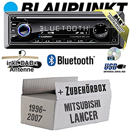 Mitsubishi Lancer - BLAUPUNKT Stockholm 230 DAB - DAB+/CD/MP3/USB Autoradio inkl. Bluetooth - Einbauset