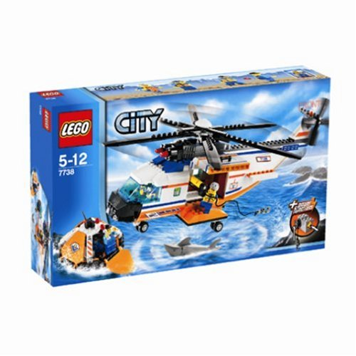 LEGO City Model 7738 Coast Guard Helicopter  &  Life Raft