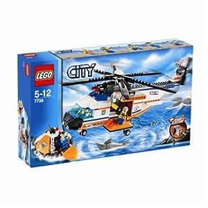 Lego - 7738 - Jeu de construction - LEGO City - L'hélicoptère et le canot de sauvetage des garde-côtes