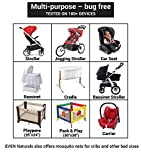 Only this week 56%OFF | Baby Mosquito Net for Strollers, Carriers, Car Seats, Cradles by #1 EVEN Naturals | Free Carry Bag & eBook | 100% | Soft Fly Screen Protection