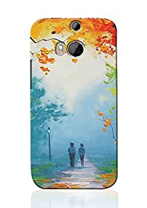 Sowing Happiness Printed Back Cover for HTC One M8