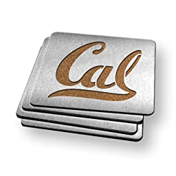 NCAA Cal Bears Boasters, Heavy Duty Stainless Steel Coasters, Set of 4