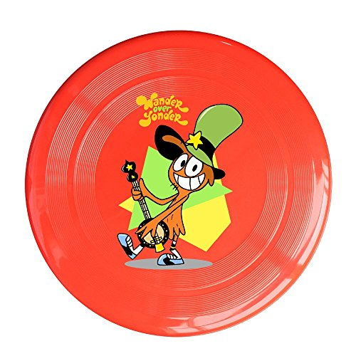 YQUE56 Unisex Cute TV Cartoon Role Poster Outdoor Game, Sport, Flying Discs,Game Room, Light Up Flying, Sport Disc ,Flyer Frisbee,Ultra Star Red One Size