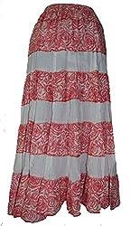 PMS Pure Cotton Multi Color Fashion Long Skirts