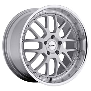 18×8 TSW Valencia (Silver w/ Mirror Lip) Wheels/Rims 5×114.3 (1880VAL205114S76)