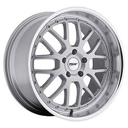 19×8 TSW Valencia (Silver w/ Mirror Lip) Wheels/Rims 5×112 (1980VAL325112S72)