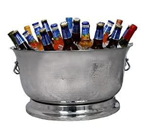 Artisan Stainless Steel Hand Hammered Insulated Beverage Tub (34 Qt.)