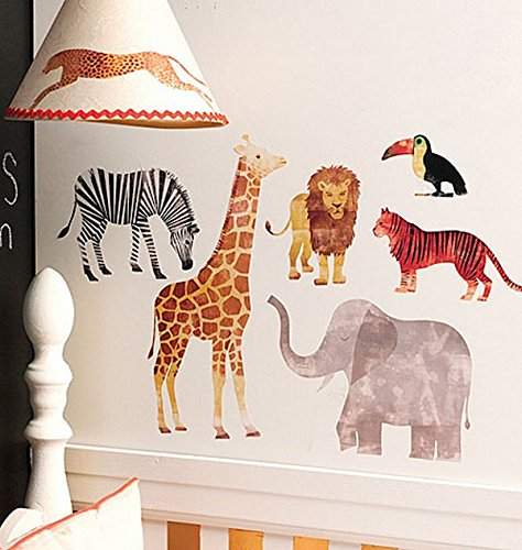 Wallies 12474 Wild Animals! Big Wall Stickers