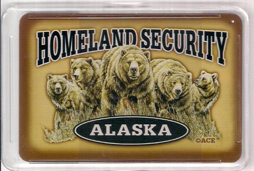 Alaska Homeland Security Standard Playing Cards (In Tin Case) southern enterprises montfort stationary chair in chocolate