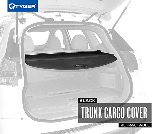 TYGER Black Retractable SUV Rear Trunk Cargo Cover Shield Fits 14-15 Nissan Rogue (SV models only) (Nissan Rear Cargo Cover compare prices)