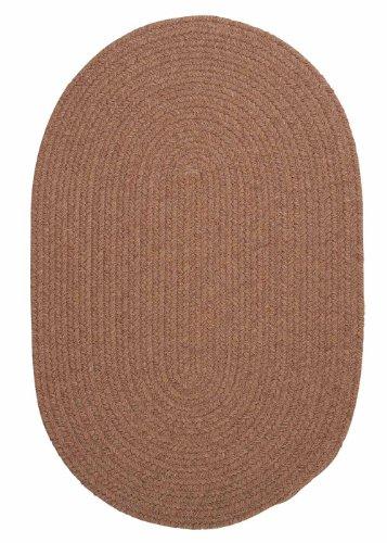 American Made Textured Rug 10-Feet by 10-Feet Round Mocha Wool Carpet